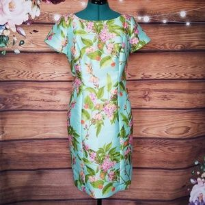 Talbots Floral Structured Dress